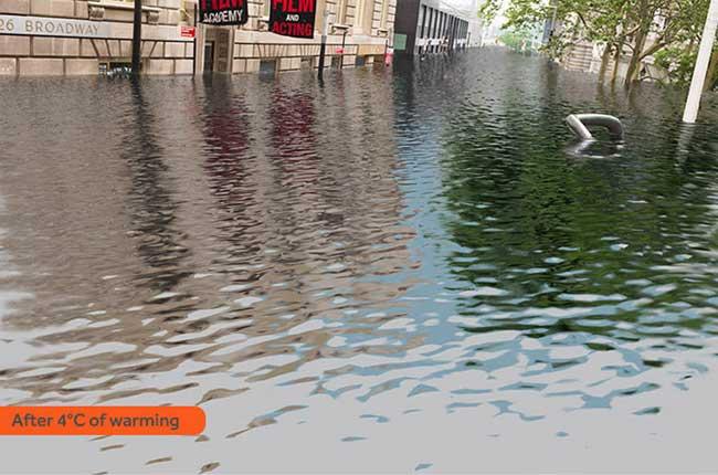 Через 50 лет Нью-Йорк и Лондон уйдут под воду