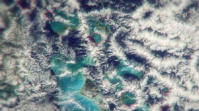 Над Бермудским треугольником появляются шестигранные облака