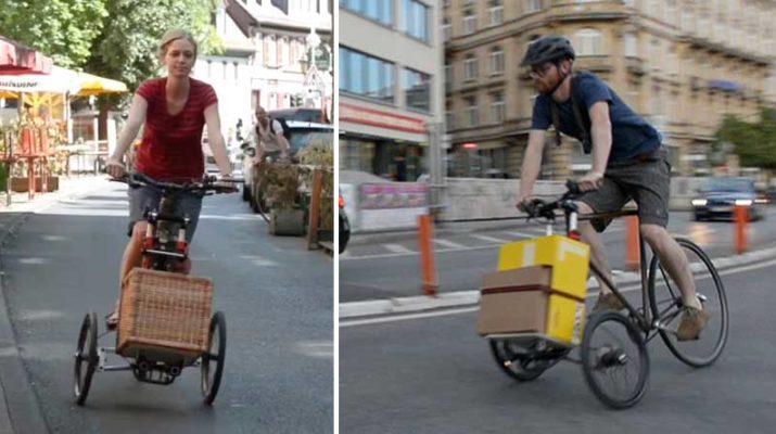 TreGo - съемная тележка для велосипеда