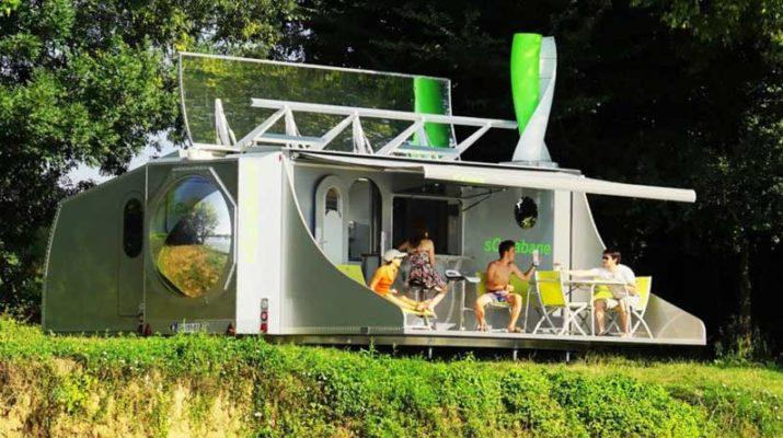 Складной дом sCarabane – автономная жизнь на природе