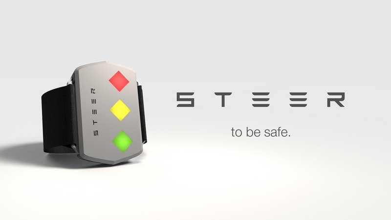STEER –  «электрошокер» для сонных водителей
