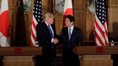 Япония поддерживает позицию Трампа по КНДР